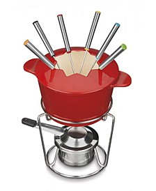 Cast Iron 13-Pc. Fondue Set