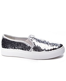 Josephine Sequins Slip On Sneakers