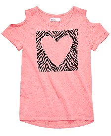 Epic Threads Big Girls Cold-Shoulder Heart T-Shirt, Created for Macy's
