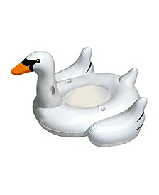 "Sports Elegant Giant Swan 73"" Inflatable Ride-On Swimming Pool Float"
