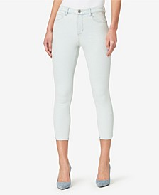Women's Regular Highrise Skinny Crop Baby Hem Jeans