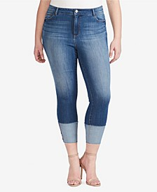 Plus High Rise Skinny Crop Jeans
