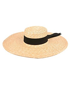 Angela & William Natural Straw Wide Brim Floppy