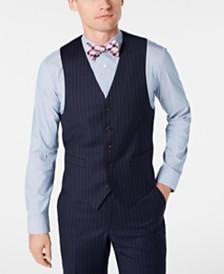Lauren Ralph Lauren Men's Classic-Fit UltraFlex Stretch Navy Blue Pinstripe Suit Vest