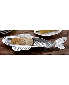 KINDWER Skinny Fish Olive and Cracker Tray