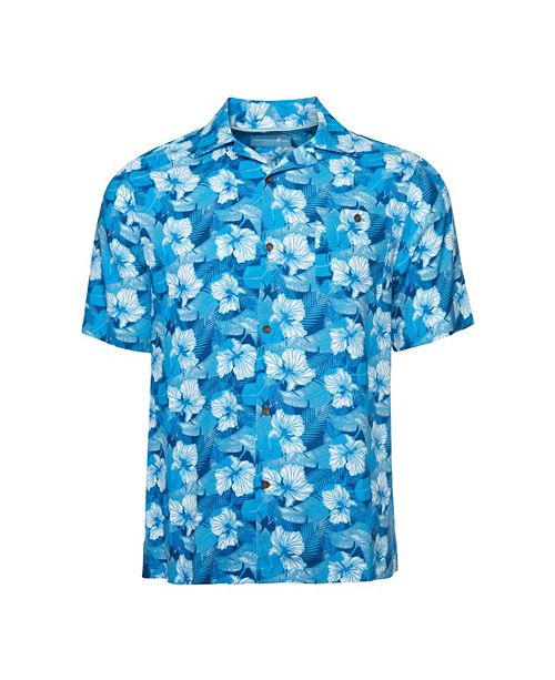 Caribbean Joe Men's  Classic Camp Short Sleeve Island Shirt