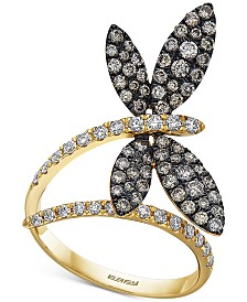 EFFY® Diamond Butterfly Statement Ring (1-1/8 ct. t.w.) in 14k Gold