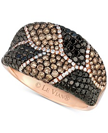 Le Vian Exotics® Multicolor Diamond (2-1/4 ct. t.w.) Statement Ring in 14k Rose Gold
