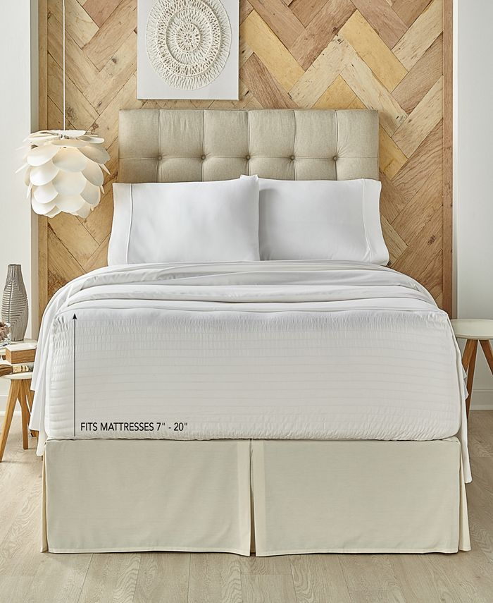 J Queen New York - Royal Fit White 500 TC Cotton Full Sheet Set