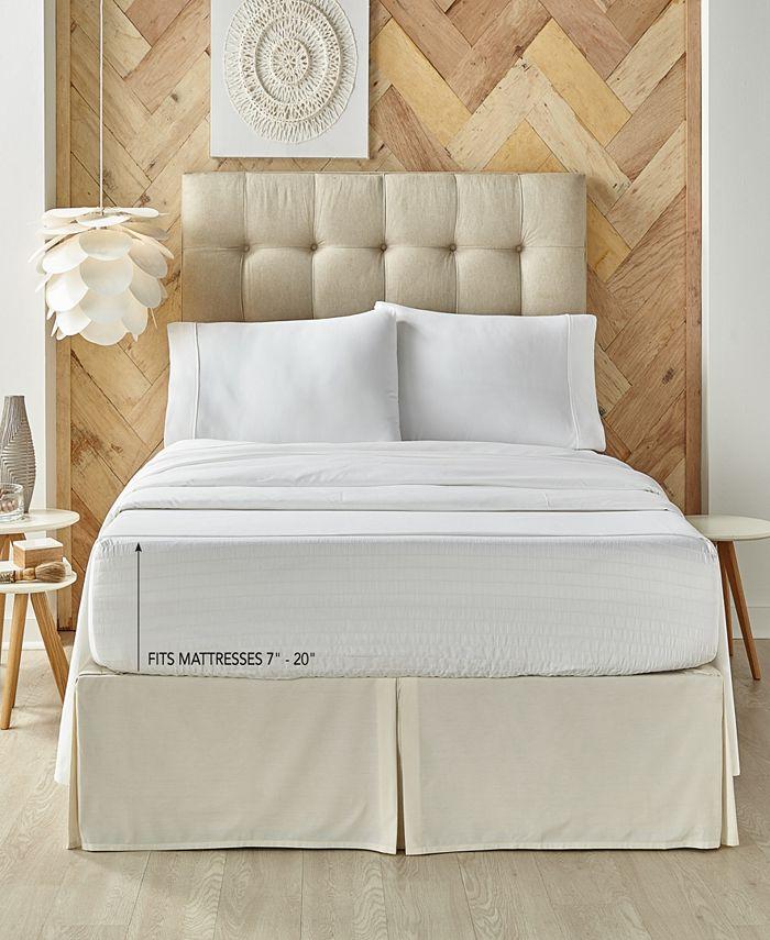 J Queen New York - Royal Fit White 500 TC Cotton King Sheet Set