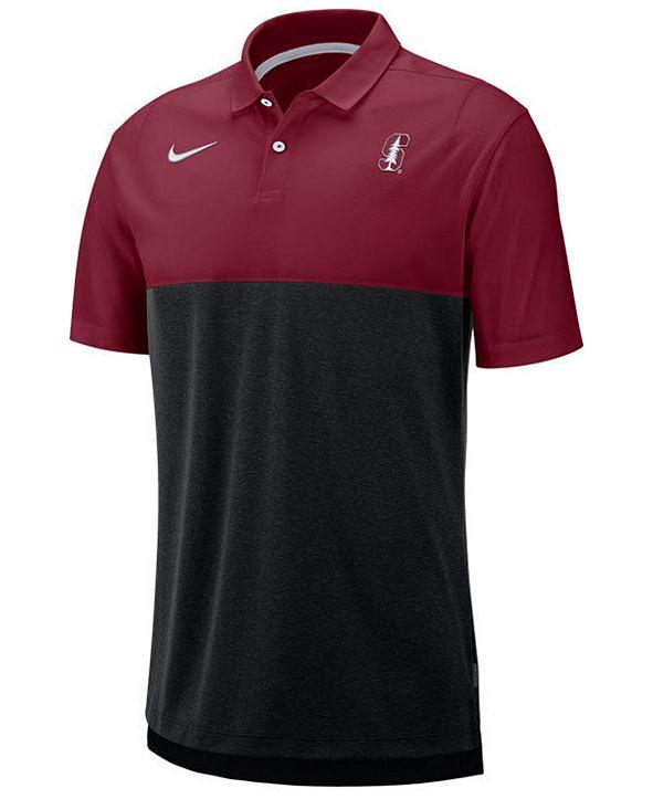 Nike Men's Stanford Cardinal Dri-Fit Colorblock Breathe Polo
