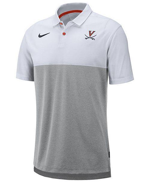 Nike Men's Virginia Cavaliers Dri-Fit Colorblock Breathe Polo