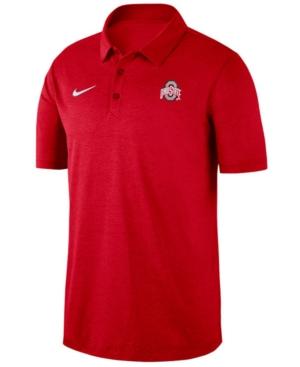 Nike Men's Ohio State Buckeyes Dri-fit Breathe Polo