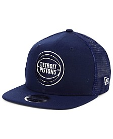 New Era Detroit Pistons Dub Fresh Trucker 9FIFTY Snapback Cap