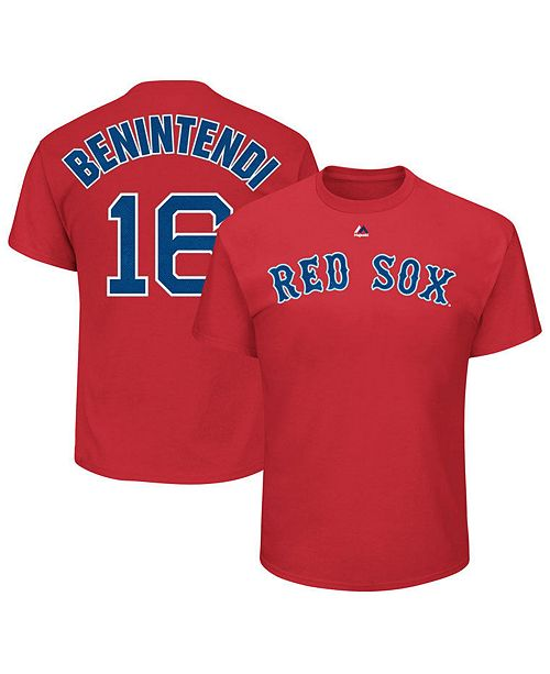 best service 93b3c 95968 Men's Andrew Benintendi Boston Red Sox Official Player T-Shirt