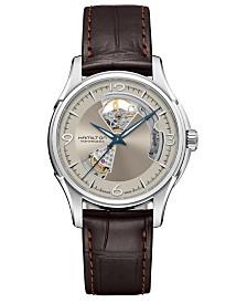 Hamilton Men's Swiss Automatic Jazzmaster Brown Leather Strap Watch 40mm