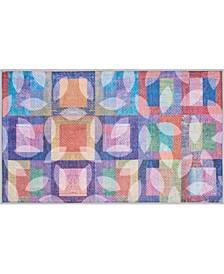 """Multicolor Watercolor 27"""" x 45"""" Accent Rug"""