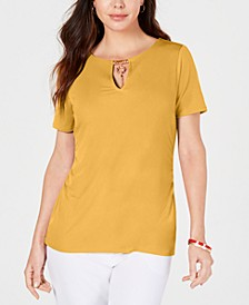 Embellished-Keyhole Top, Created for Macy's