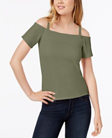 Bar III Cold-Shoulder Top, Created for Macy's