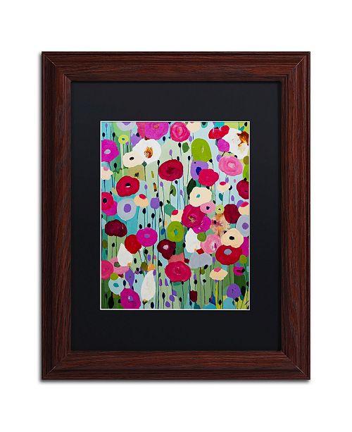 """Trademark Global Carrie Schmitt 'Making Wishes' Matted Framed Art - 11"""" x 14"""""""