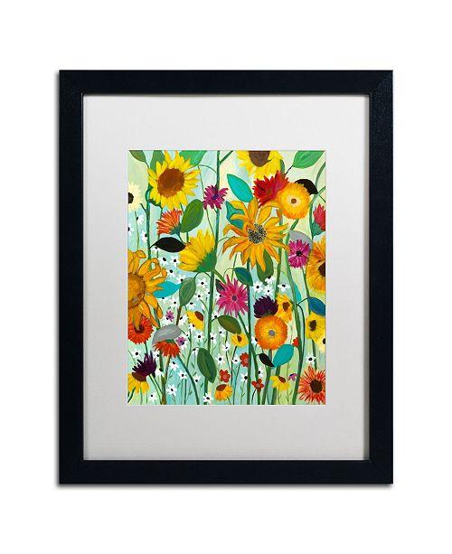 """Trademark Global Carrie Schmitt 'Sunflower House' Matted Framed Art - 16"""" x 20"""""""