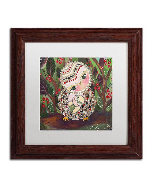 """Trademark Global Carrie Schmitt 'You Are My Home' Matted Framed Art - 11"""" x 11"""""""