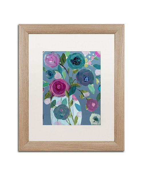 """Trademark Global Carrie Schmitt 'Easy Joy' Matted Framed Art - 16"""" x 20"""""""