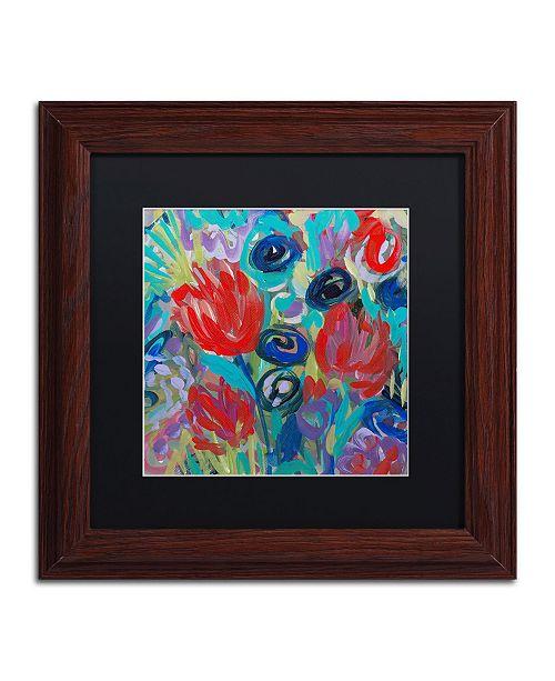 """Trademark Global Carrie Schmitt 'Savasana' Matted Framed Art - 11"""" x 11"""""""