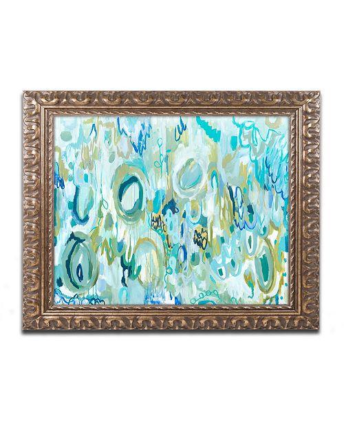 "Trademark Global Carrie Schmitt 'Ujjayi Pranayama' Ornate Framed Art - 11"" x 14"""
