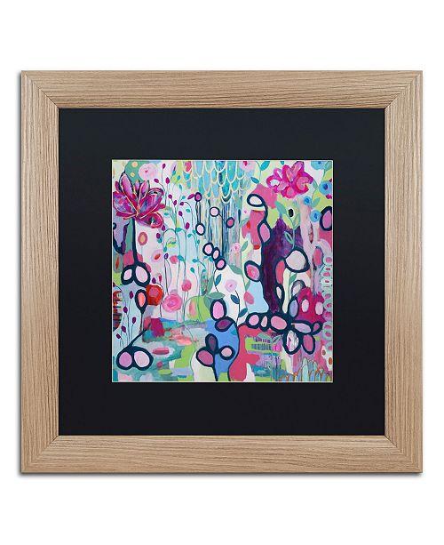 """Trademark Global Carrie Schmitt 'In The Flow' Matted Framed Art - 16"""" x 16"""""""