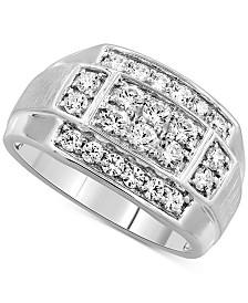 Men's Diamond Cluster Ring (1-1/4 ct. t.w.) in 10k White Gold