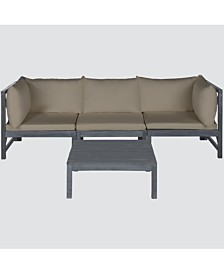 Pieter 4-Pc. Outdoor Sectional with Coffee Table, Quick Ship