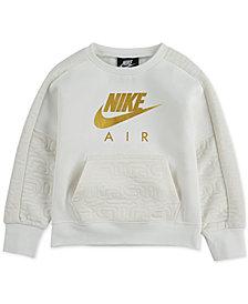 Nike Little Girls Metallic-Logo Sweatshirt