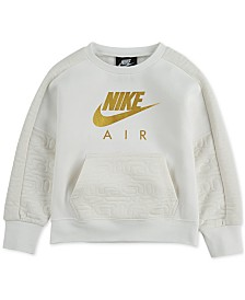 Nike Little Girls Metallic-Logo Sweatshirt