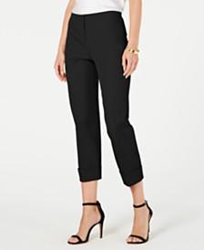 Alfani Petite Cuffed-Hem Ankle Pants, Created for Macy's