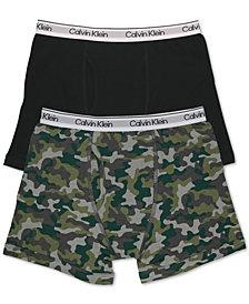 Calvin Klein Big Boys 2-Pk. Boxer Briefs