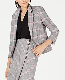 Plaid Notch-Collar Blazer, Created for Macy's