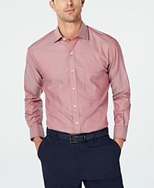 Men's Classic/Regular-Fit Non-Iron Mini-Herringbone Supima Cotton Dress Shirt, Created for Macy's