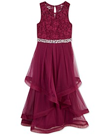 Big Girls Glitter Lace Maxi Dress, a Macy's Exclusive Style