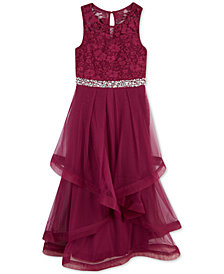 Speechless Big Girls Glitter Lace Maxi Dress, a Macy's Exclusive Style