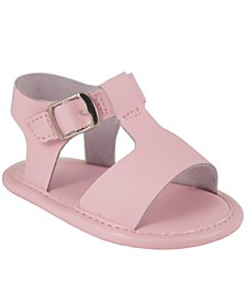 Baby Girl Leather T-Strap Sandal