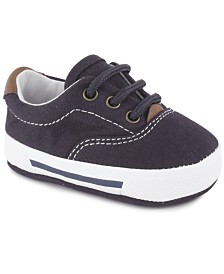 Baby Deer Baby Boy Canvas Lace-Up Sneaker