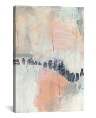 Blush and Navy I by Jennifer Goldberger Gallery-Wrapped Canvas Print - 40