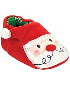 Baby Deer Baby Unisex Velour Santa Head Stroller Slipper