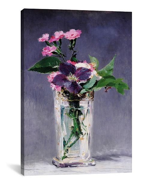 "iCanvas Ragged Robins and Clematis by Edouard Manet Gallery-Wrapped Canvas Print - 18"" x 12"" x 0.75"""