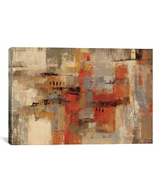 "iCanvas City Wall by Silvia Vassileva Gallery-Wrapped Canvas Print - 12"" x 18"" x 0.75"""