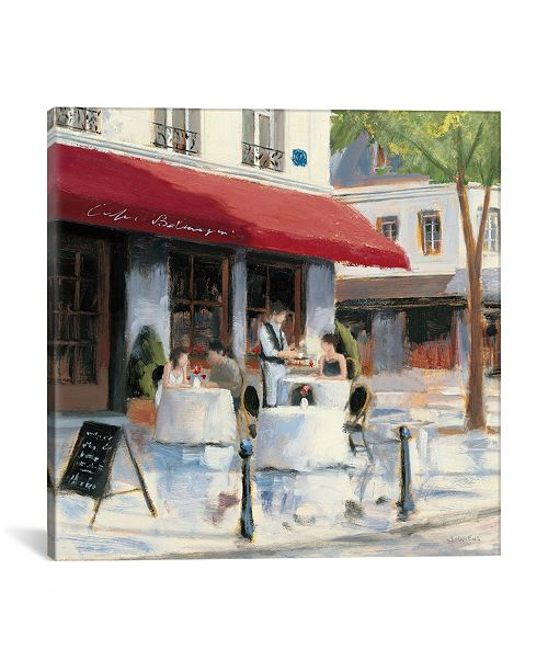 """iCanvas Relaxing at The Cafe I by James Wiens Gallery-Wrapped Canvas Print - 26"""" x 26"""" x 0.75"""""""