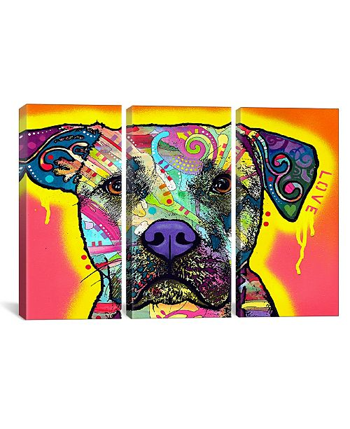 """iCanvas Drip Love by Dean Russo Gallery-Wrapped Canvas Print - 40"""" x 60"""" x 1.5"""""""