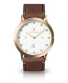 Lilienthal Berlin L1 Standard White Dial Gold Case Leather Watch 37mm