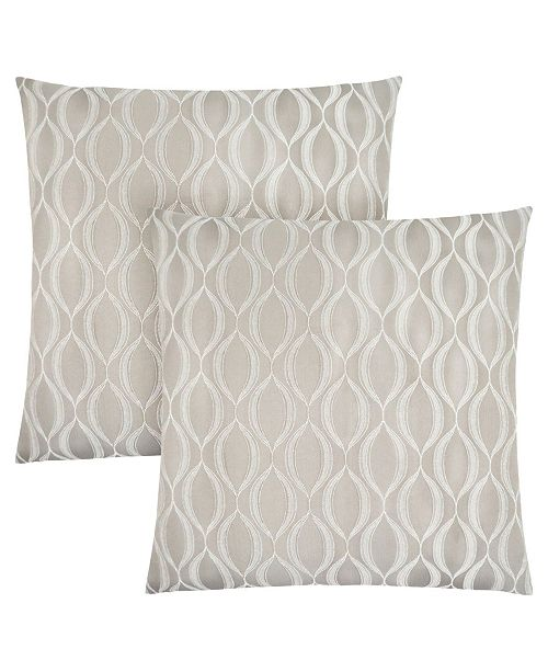 "Monarch Specialties 18"" x 18"" Wave Pattern Pillow, Set Of 2"